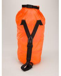 Y-3 Orange Branded Duffle Bag for men