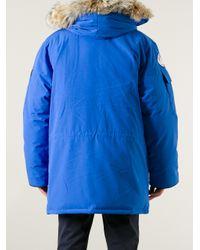 Canada Goose - Blue Hooded Parka for Men - Lyst