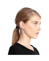 COACH - Metallic Sterling Signature C Stud Earrings - Lyst