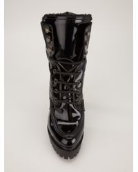 DSquared² Black Patent Mountain Boot