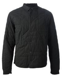 Folk Black Quilted Jacket for men