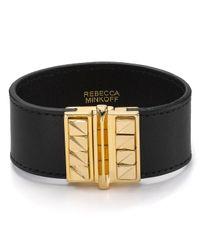 Rebecca Minkoff - Metallic Curbs Leather Cuff - Lyst