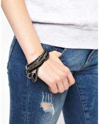 Tatty Devine - Metallic Religion Leather Cross Bracelet - Lyst