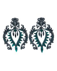 Roberto Cavalli - Green Clip On Earrings - Lyst