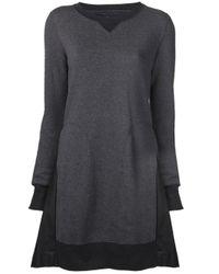 Sacai Gray Sacai Sweatshirt Dress
