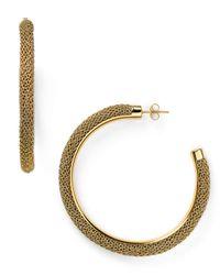 Adami & Martucci - Metallic Large Mesh Hoop Earrings - Lyst