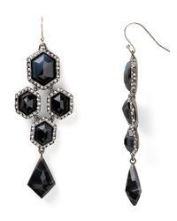 Alexis Bittar | Black Banded Agate Chandelier Earrings | Lyst