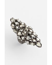 Alexis Bittar | Metallic Miss Havisham Pavo Marquise Cocktail Ring | Lyst