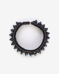 Barbara Bui - Black Spike Leather Bracelet - Lyst