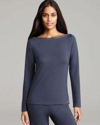 Calvin Klein Gray Recolor Long Sleeve Pajama Top