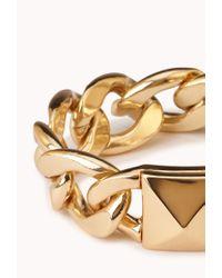 Forever 21 - Metallic Total Stud Curb Chain Bracelet - Lyst