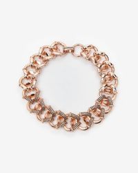 Giles & Brother - Pink Encrusted Cortina Chain Necklace - Lyst
