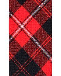 Jack Spade Red Plaid Tie for men