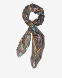 Jane Carr | Green Square Snake Print Cashmere Scarf | Lyst
