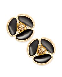 kate spade new york New York Earrings Goldtone Disco Daisy and Black Colorado Stone Stud Earrings