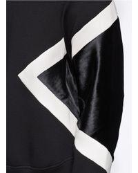 Neil Barrett - Black Ponyhair Contrast Panel Sweatshirt for Men - Lyst