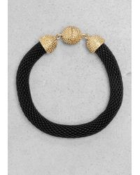 & Other Stories | Black Woven Metal Bracelet | Lyst