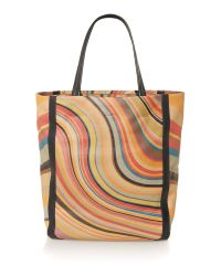 Paul Smith Natural Swirl Print Tote Bag