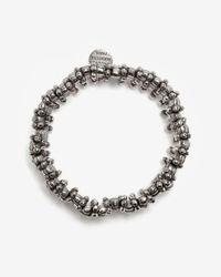 Philippe Audibert Metallic Amelia Crystal Rhinestone Cuff Bracelet