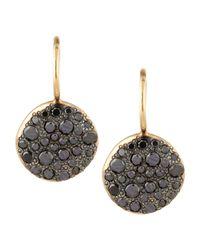 Pomellato - Metallic Sabbia Black Pave Diamond Earrings - Lyst