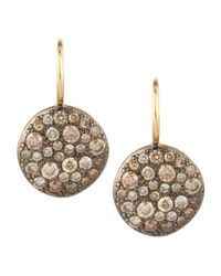 Pomellato | Metallic Sabbia Brown Pave Diamond Earrings | Lyst