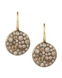 Pomellato - Natural Sabbia White Pave Diamond Earrings - Lyst