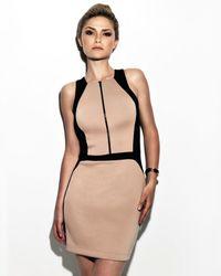 Robert Rodriguez - Black Exclusive Zipper Front Two Tone Dress - Lyst