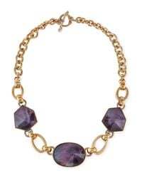 Stephen Dweck | Metallic Galactic Rock Crystal Necklace Purple | Lyst