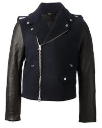 Acne Studios Blue Cassady Biker Jacket for men