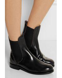 Alaïa Black Leather Chelsea Boots