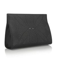 Alaïa Black Studded Leather Clutch