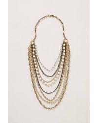 Anthropologie | Metallic Brasserie Layered Necklace | Lyst