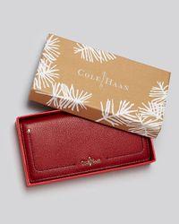 Cole Haan Red Wallet Top Snap