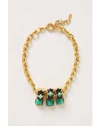 Elizabeth Cole | Green Minka Necklace | Lyst