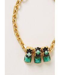Elizabeth Cole - Green Minka Necklace - Lyst
