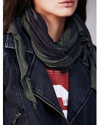 Free People Green Lightweight Jersey Scarf