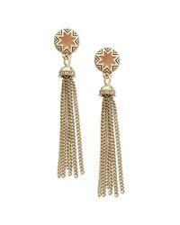 House of Harlow 1960 - Metallic Goldtone Khaki Sunburst Tassel Earrings - Lyst