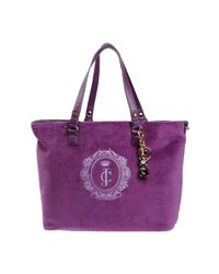 Juicy Couture Purple Large Fabric Bag