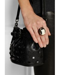 Marc By Marc Jacobs - Black Olive Resin Gold-Tone and Czech Stone Cameo Ring - Lyst