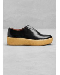 & Other Stories Black Leather Flatforms