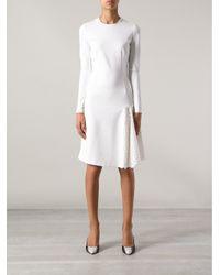 Stella McCartney White Fitted Dress