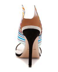 Tanya Taylor - Multicolor Nya Rainbow Stripe Stiletto Sandals - Lyst