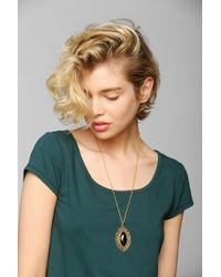Urban Outfitters - Metallic Delicate Filigree Pendant Necklace - Lyst