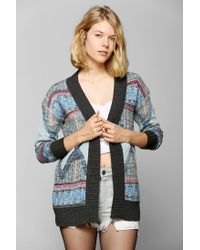 Urban Outfitters | Multicolor Glamorous Diamond Open-front Sweater | Lyst