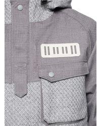 White Mountaineering Gray Textured Utility Jacket for men