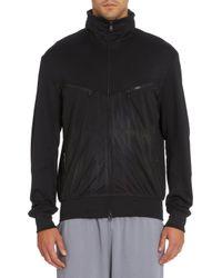 Y-3 Black Hooded Track Jacket for men
