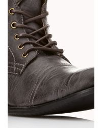 Forever 21 Brown Distressed Combat Boots for men