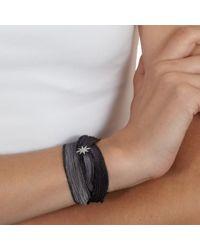 Mizuki Gray Star Wrap Bracelet