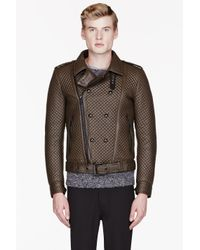 Belstaff Brown Leather And Shearling Quilted Buckton