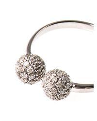 Elise Dray Metallic Diamond Gold Hippy Ball Ring
